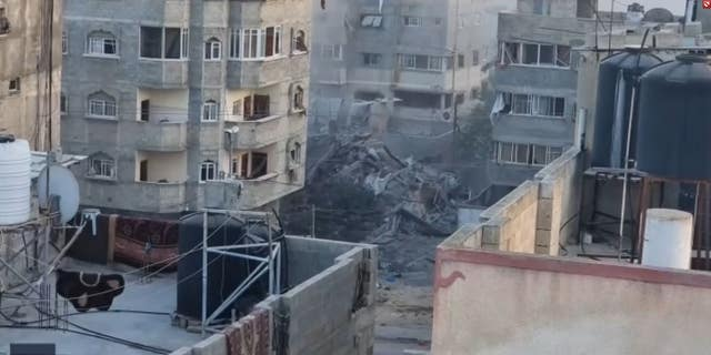 A residential tower in Gaza was obliterated by an airstrike on May 16.