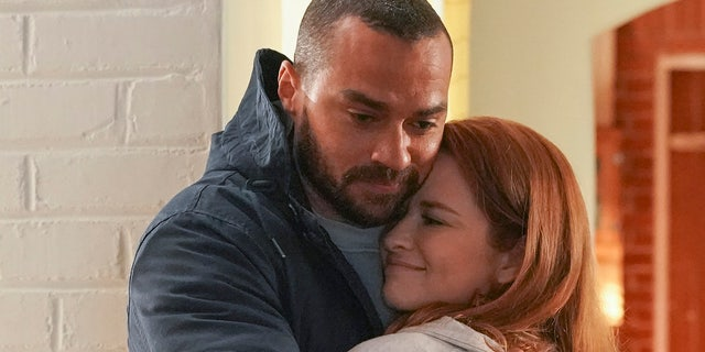 In Thursday's episode of 'Grey's Anatomy,' Jackson reunites with his ex-wife, April Kepner (Sarah Drew).