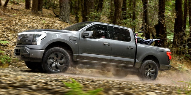 The Ford F-150 Lightning is the brand's first all-electric pickup.