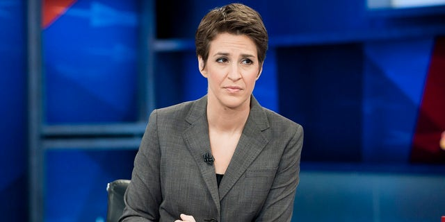 """MSNBC's liberal """"The Rachel Maddow Show"""" was categorized as a straight-news program. (Photo by Virginia Sherwood/NBCU Photo Bank/NBCUniversal via Getty Images via Getty Images)"""