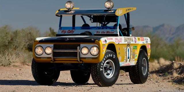 """The 1969 Ford Bronco known as """"Big Oly"""" won the Baja 1000 in 1971 and 1972."""