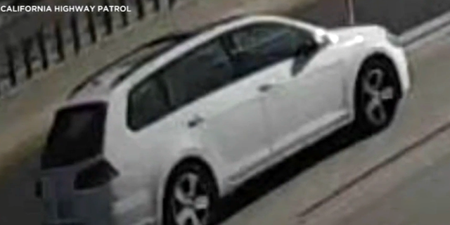The image of the vehicle investigators believe was involved in the shooting of 6-year-old Aiden Leos in Orange, Calif. (California Highway Patrol)