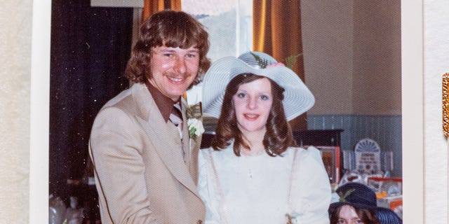 Adrian Hutson and Joanne Markham are pictured on their wedding day, June 28, 1975.