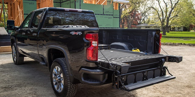 The Multi-Flex tailgate is available on the 2022 Chevrolet Silverado HD