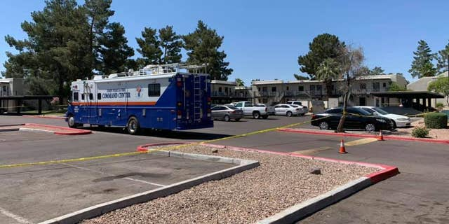 The apartment complex in Tempe, Arizona, where officials found two deceased children after their mother said she heard voices asking them to kill them