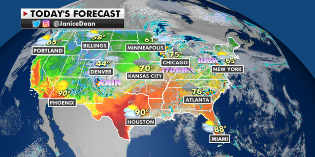 The national forecast for Monday, May 3. (Fox News)