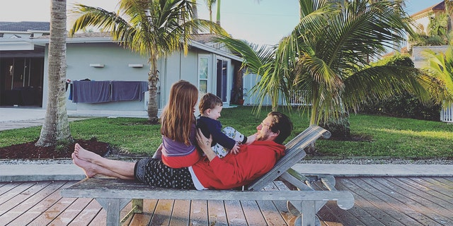 Journalist Danny Fenster on a family trip to Naples, Fla. in 2018 with his niece and nephew.
