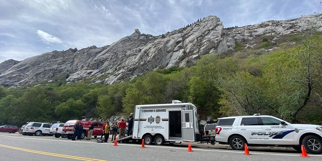 Rescue teams responded to an emergency call just before 4 p.m. in Little Rock Canyon,part of the Wasatch-Cache National Forest located about 15 miles from Salt Lake City.