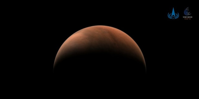 Photo taken on March 18, 2021 shows an image of Mars captured by China's Tianwen-1 probe. (CNSA/Handout via Xinhua)