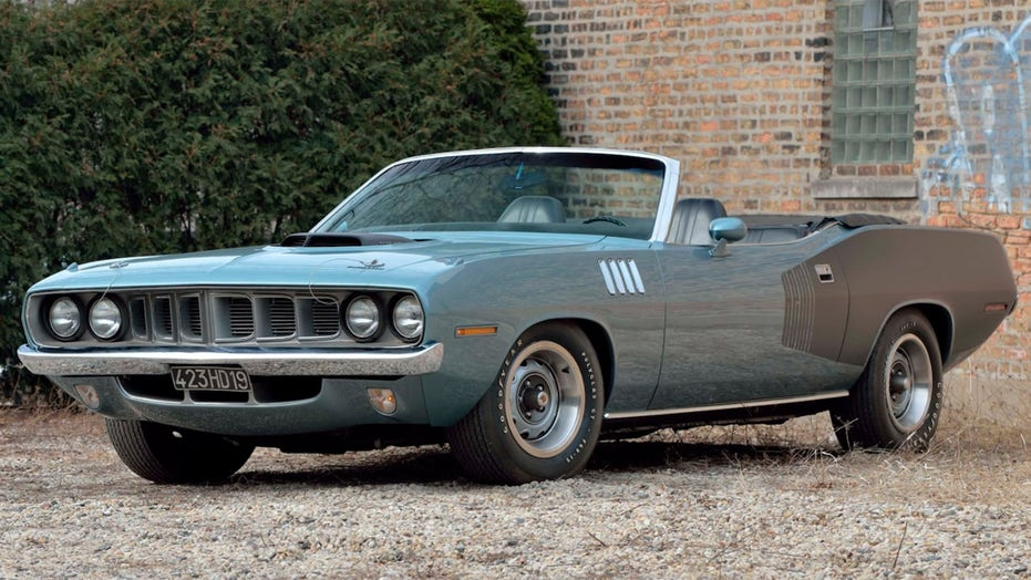 Ultra-rare 1971 Plymouth Hemi 'Cuda muscle car worth millions up for auction