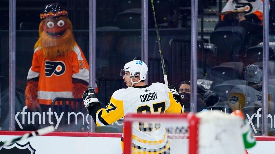 Crosby scores 2 goals as Pens surge past Flyers 7-3