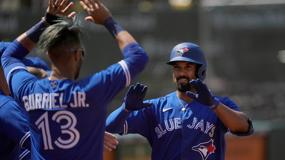 Grichuk drives in 5, Jays beat A's 10-4 for series split