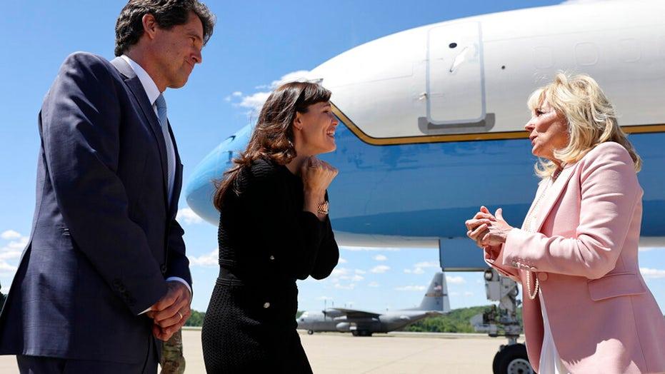 Jill Biden and Jennifer Garner visit high school vaccination site in West Virginia