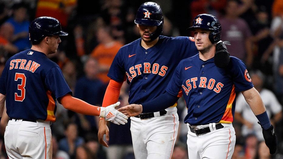 Four-run eighth sends Astros past Rangers, 6-2