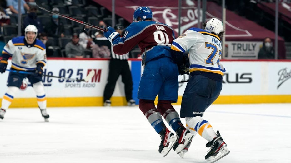 Avalanche's Nazem Kadri to have hearing after 'dangerous' hit on Blues' Justin Faulk