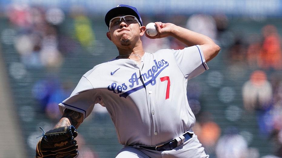 Lux slam, pitcher Urías 3 RBIs send Dodgers past Giants 11-5