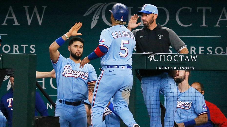 García beats Astros in 10th again, Rangers sweep in 3-2 win