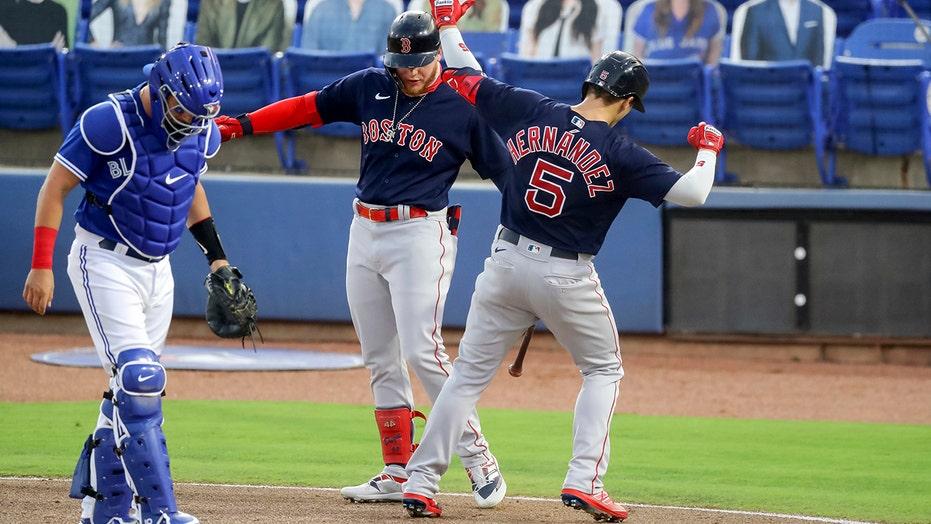 Verdugo, Martinez power 5-run 1st, Red Sox top Blue Jays 7-3