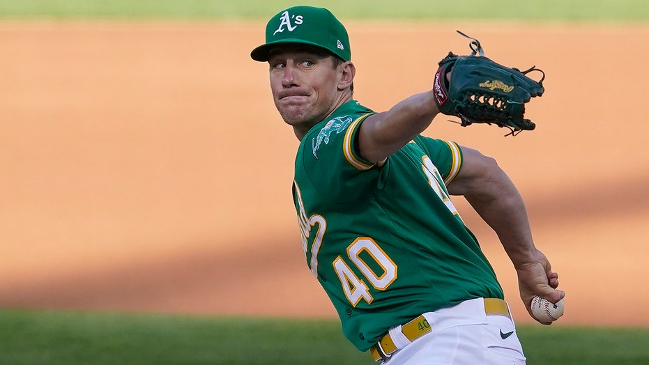 Bassitt pitches two-hitter, fans nine as A's beat Angels 5-0