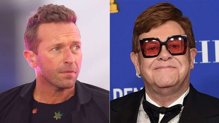 Elton John receives iHeartRadio Music Awards' icon nod as Chris Martin jokes he doesn't 'know much' about him