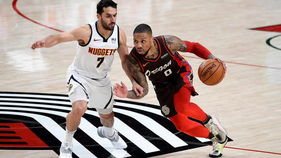 Blazers beat Nuggets 132-116, secure 6th seed for playoffs