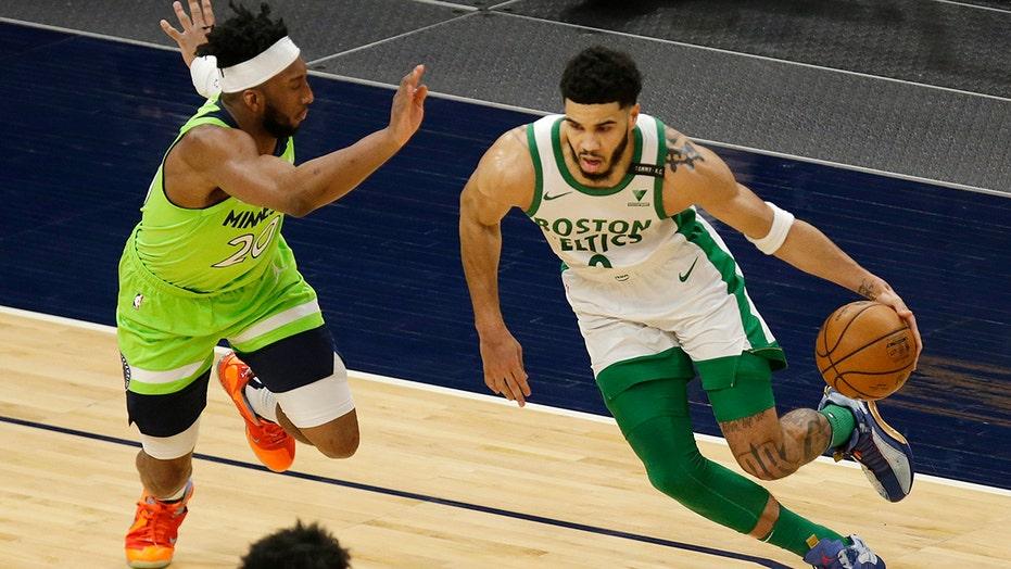 Tatum, Celtics cruise to 124-108 win over Timberwolves