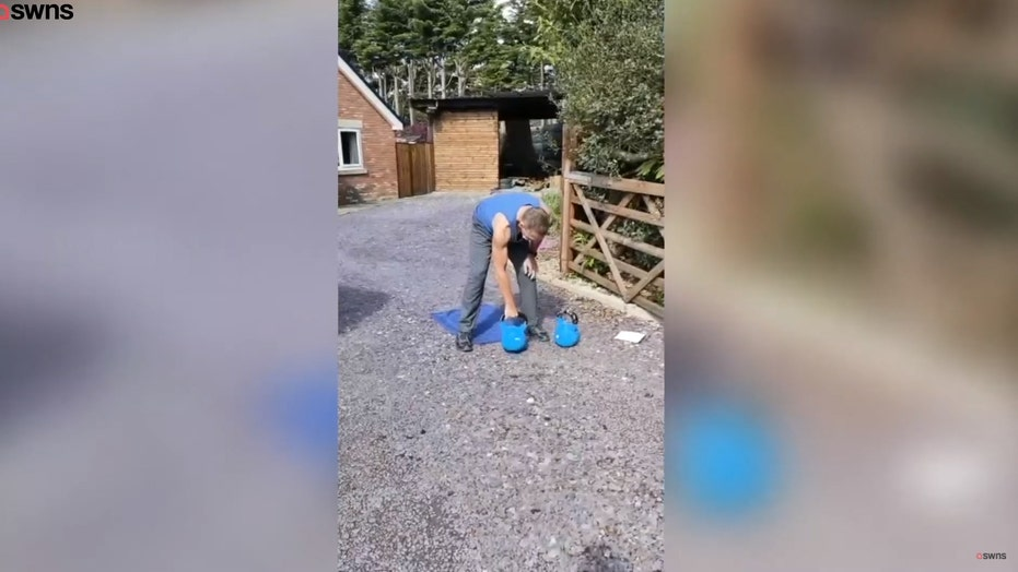64-year-old grandfather completes 10,000 kettlebell swings in record time