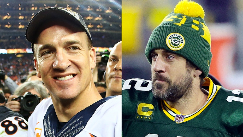 Peyton Manning on Aaron Rodgers drama: 'When I think of Aaron I think of the Green Bay Packers'