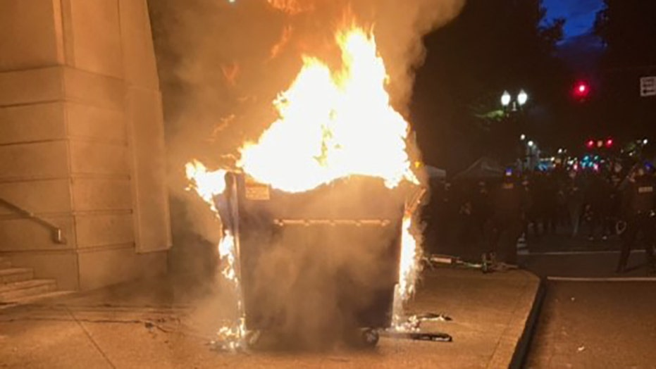 Portland police declare riot on George Floyd death anniversary as fires set, windows smashed; arrests reported