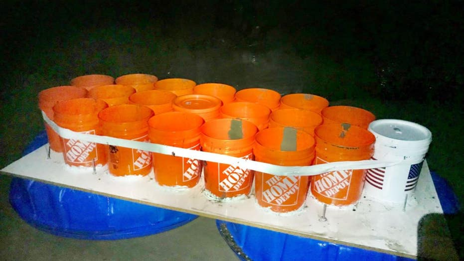Two California college students rescued after getting stranded on boat made of buckets, kiddie pools