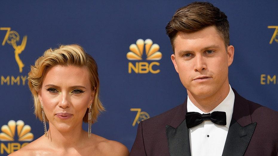 Scarlett Johansson slimed by husband Colin Jost during MTV Movie and TV Awards speech