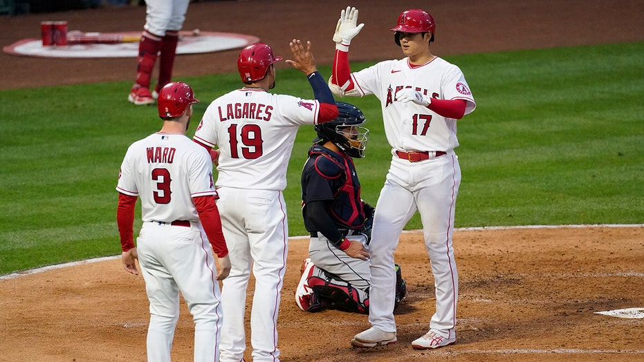 Ohtani hits 13th home run, Trout injured in Angels' victory