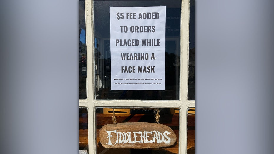California café charges patrons $5 if they wear a mask or for 'bragging' about COVID vaccine