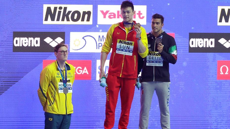 Mack Horton on swim rival Sun Yang: let's change the subject