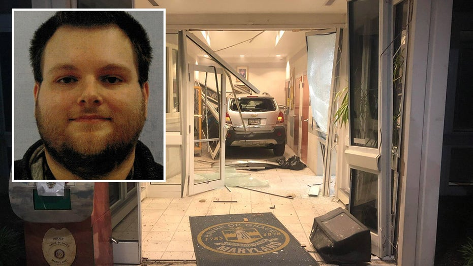 Maryland man arrested after calling in threat to kill a cop, driving car into police station