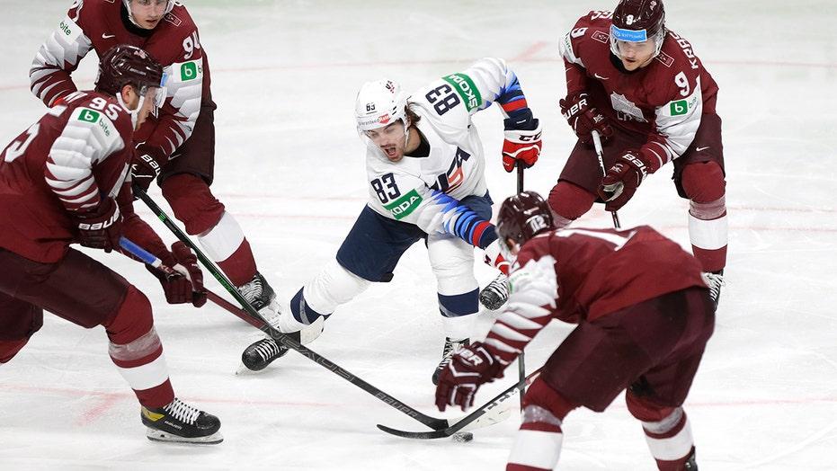 US beats Latvia 4-2 in world hockey championship
