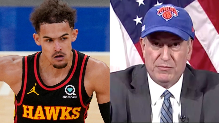 De Blasio scolds Hawks star Trae Young ahead of Game 2: 'Play the game the right way'