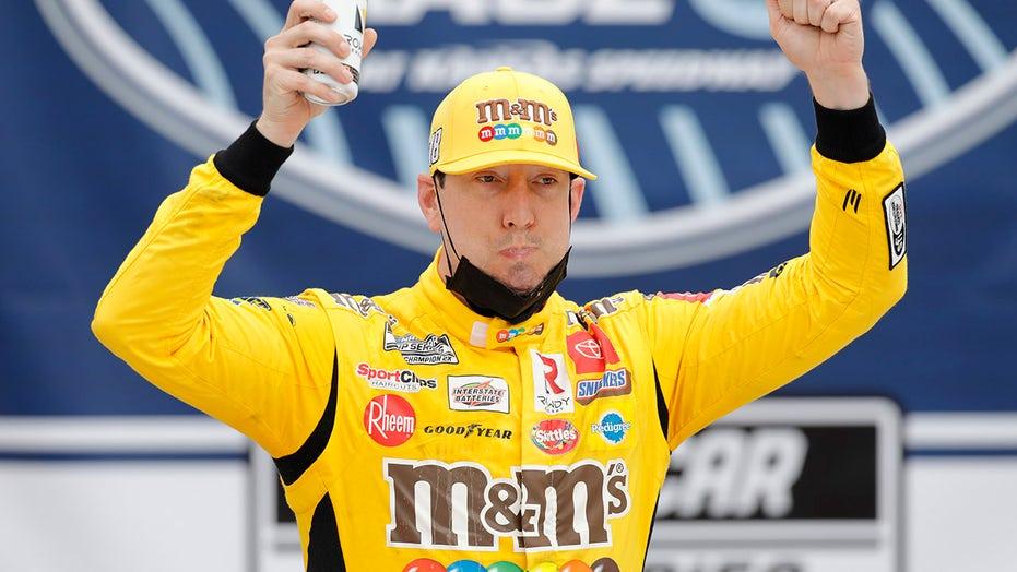 Kyle Busch celebrates birthday with win at NASCAR Kansas race