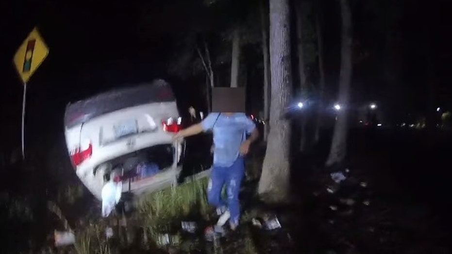 Virginia deputy single-handedly lifts overturned car to free trapped woman
