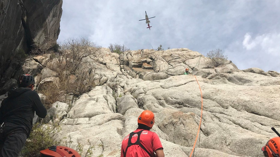 Utah climber rescued from spot called 'Certain Death' after rock 'size of a refrigerator' rolled on him