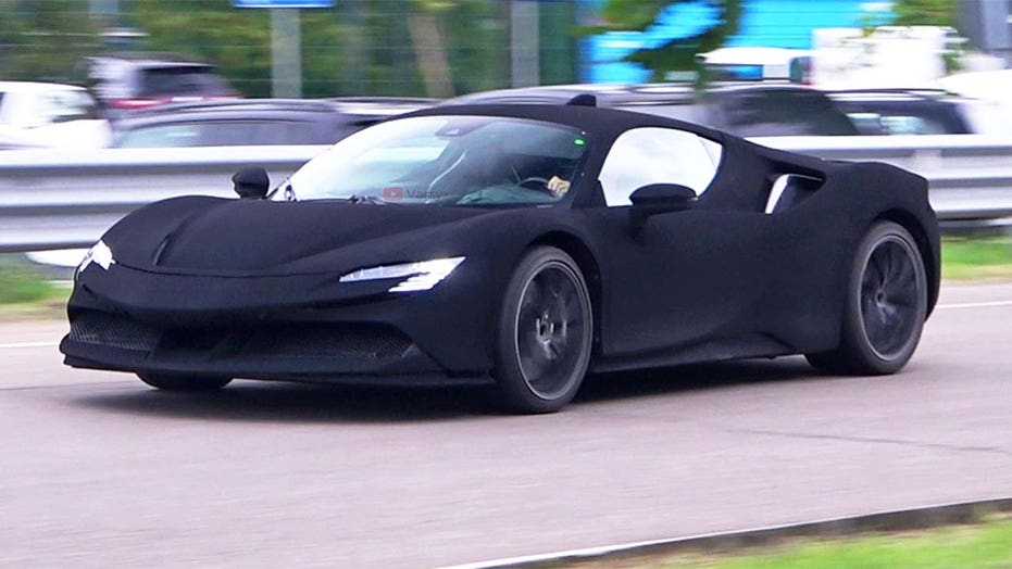 Stealth black Ferrari spotted near test facility, but what is it?