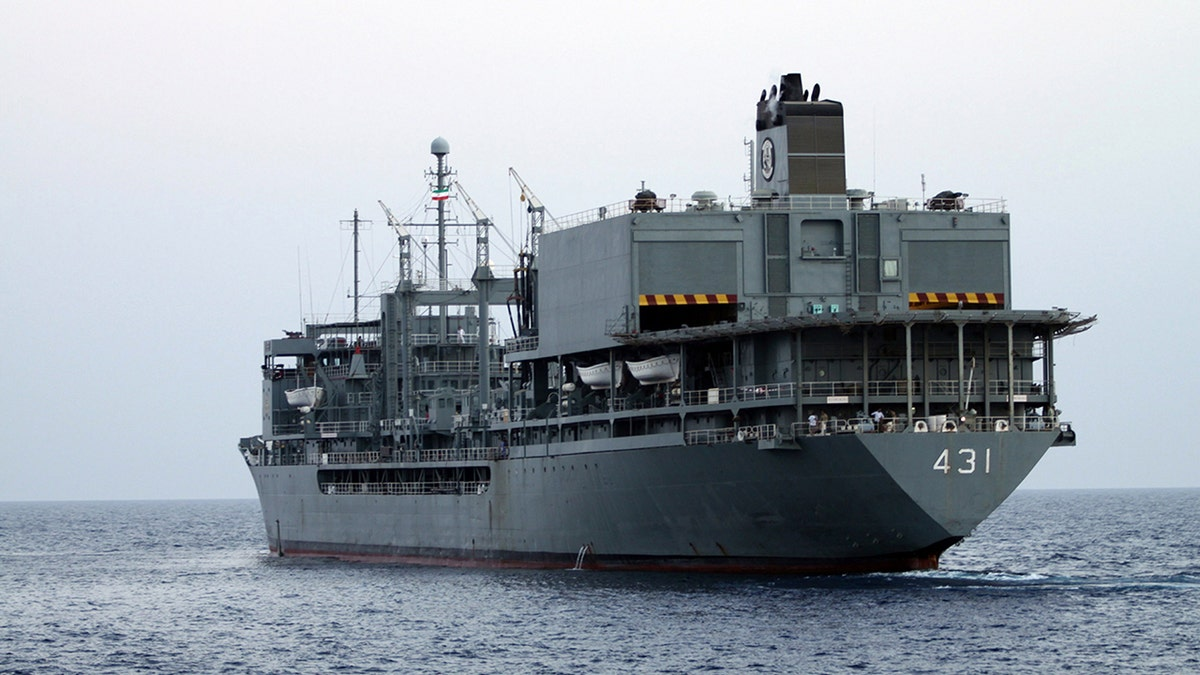 Largest ship in Iranian navy has caught fire and sank in the Gulf of Oman |  Fox News