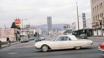 Amazing dash cam footage captures close call accident on Hollywood's Sunset Strip ... in 1963!