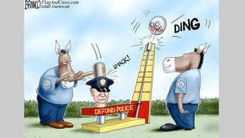 Political cartoon of the day: Dem's crime solution