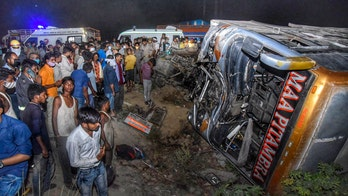 Bus with migrant workers collides with van in India; 17 dead