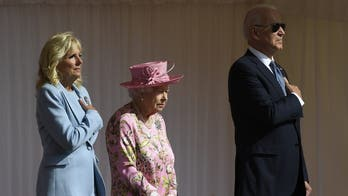 Biden, first lady join Queen for tea at Windsor Castle