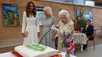 Queen Elizabeth cuts cake with sword instead of standard knife: 'More unusual'