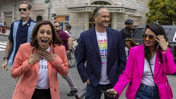 Kamala Harris becomes first sitting VP to join Pride march, calls for passage of GOP-opposed Equality Act