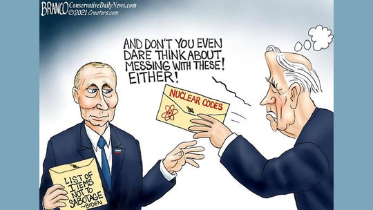 Political cartoon of the day:  Biden mails it in