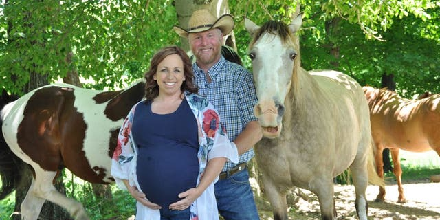 Amanda Eckstein and Phillip Werner decided they wanted to take maternity shoot photos near their family horses, but one horse, in particular, was more than camera-ready. (Kristen Zaffiro / Photography by Kristen)